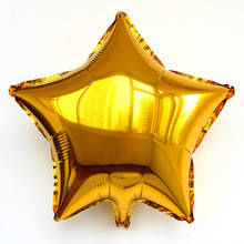 Шар звезда золотая 45 см