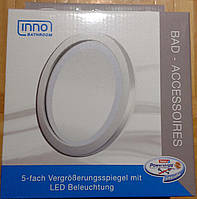 Зеркало для ванны 5 кратное увеличение LED подсветка INNO