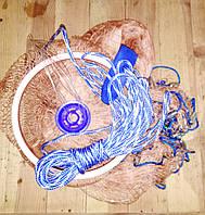 Кастинговая сеть-парашют высота 1,90 м., диаметр 3.8 м.,  12 ячея нитка с кольцом
