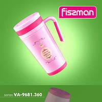 9672 Fissman Термо-кружка 500 мл рожевий (нерж. сталь)