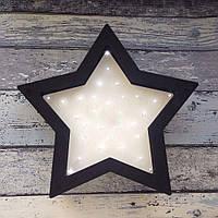 Светодиодный ночник из дерева Звезда ручная работа светодиодные лампы размер 28 х 31см