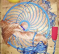 Кастинговая сеть-парашют д 3,6 м нитка с кольцом