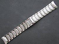 Браслет для часов из хромированной стали, литой. 22-й размер, фото 1