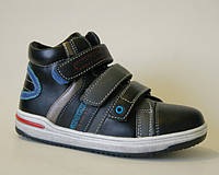 Демисезонные ботинки для мальчика, KLF black, 32-35