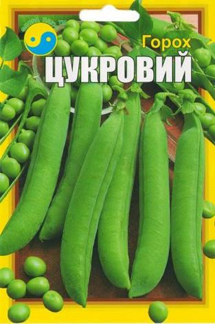 """Семена гороха сахарного, 20 г ТМ """"Флора Плюс"""", фото 2"""