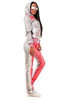 Женский стильный спортивный костюм FLY \ розовый