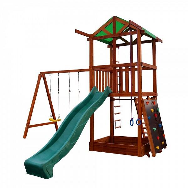 Многофункциональная деревянная игровая площадка 004