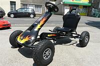 Детский картинг FERBEDO Air Runner AR1 с педалями черный Германия