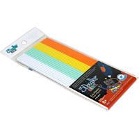 Набор стержней для 3D-ручки - МИКС (24 шт: белый, мятный, желтый, оранжевый)