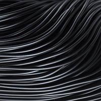Шнур Резиновый Цельный, без отверстия, Цвет: Черный, Размер: Толщина 1мм, около 700м/связка, (УТ0011721)