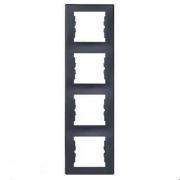 Рамка 4 поста графит вертикальная IP20  Schneider Electric Sedna