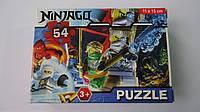 """Пазлы """"Ninjago Ниндзяго"""",54 ел,Enfant,155х110 мм.Детские пазлы, 54 елементов.Пазли мален. на 54 эл .Пазлы детс"""