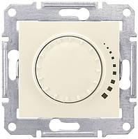 Светорегулятор (диммер) универсал. поворотно-нажимной проходной 20-420 Вт/ВА Schneider Sedna Слоновая кость