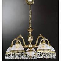 Люстра RECCAGNI ANGELO L 6300/5 золото/стекло/хрусталь