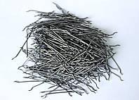 Фибра стальная с анкерами для армирования бетона 0,75 / 52 мм