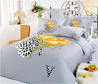 Комплект постельного белья евро Le Vele, Hayat, сатин