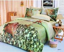 Комплект постельного белья евро Le Vele, Deniz, сатин