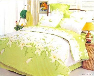 Комплект постельного белья евро Le Vele, Parfum-Lily, сатин