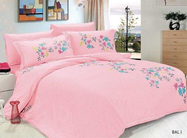 Комплект постельного белья евро Le Vele, Balli, сатин вышивка