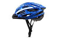 Велошлем кросс-кантри с механизмом регулировки ZEL (EPS, пластик, PVC, M-55-58, L-58-61, синий)