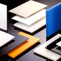 Лист, плита полиэтилен (PE 500) 40 мм толщина, размер 1000 мм х 3000 мм (белый/черный)