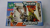 """Пазлы """"Zootopia"""",54 ел,Enfant,155х110 мм.Детские пазлы, 54 елементов.Пазли мален. на 54 эл .Пазлы детские.Пазл"""