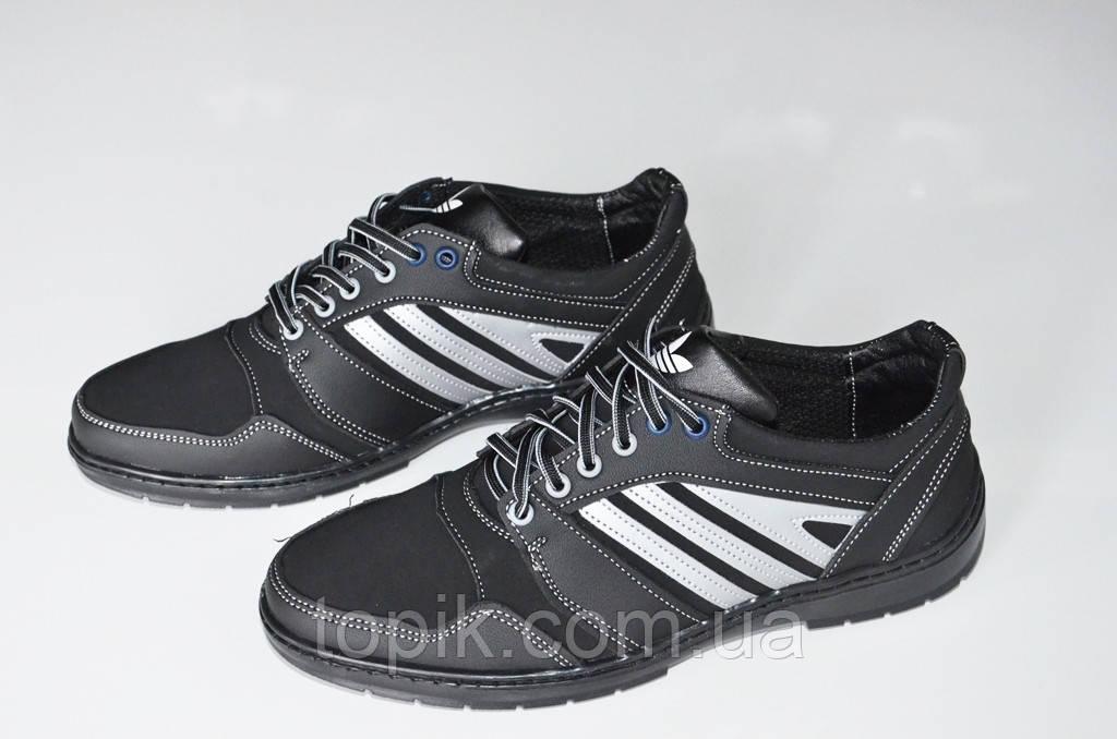 Туфли спортивные кроссовки популярные мужские черные  2017. (Код: 409)