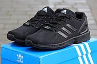 Мужские кроссовки Adidas Zx Flux, плотная сетка, черные / беговые кроссовки мужские Адидас Зх Флакс, модные