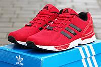 Мужские кроссовки Adidas Zx Flux, красные / кроссовки мужские Адидас Зх Флакс, стильные