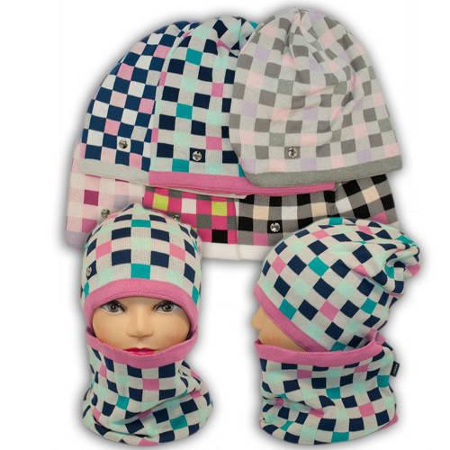 Вязаная шапка с хомутом, для девочки, 1230 MALTA