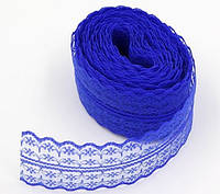 Кружево 4,5 см синее
