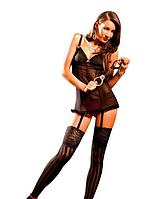 Эротическое платье с подвязками Dot Mesh Dress with Garters от BACI Lingerie