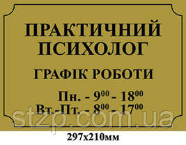 Табличка на дверь Практичний психолог - 3961