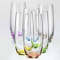 70955 Bohemia Rainbow Club склянки для води 350мл 25180/D4662/350
