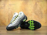 Мужские кроссовки в стиле NIKE Air Max 95 серые, фото 1