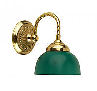 Бра з зеленим плафоном 10х20 см Stilars 1817