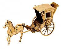 """Аксесуар """"кінь з каретою"""" 14х33см Stilars 548"""