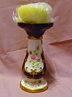 Декоративный подсвечник для широкой свечи 16 см высота