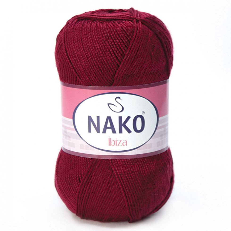 Пряжа Ибица Ibiza Nako, 999, бордо