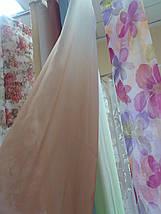 Тюль вуаль бежево- белый, фото 3