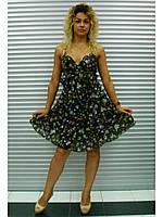 Платье Denny Rose 111222, Цвет Коричневый цветы, Размер S
