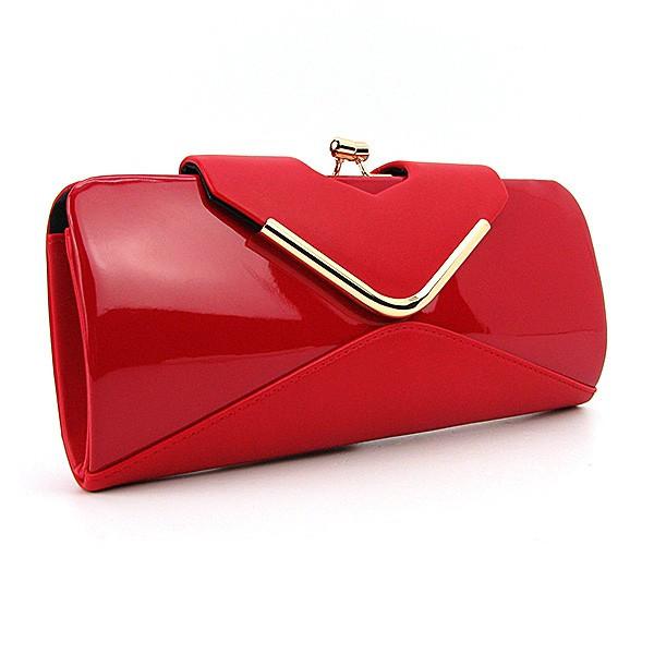 5b7972529dfa Сумка-клатч красная матово-лаковая вечерняя - Интернет магазин сумок  SUMKOFF - женские и