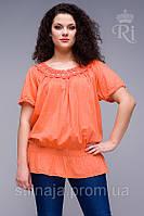 Блуза  яркие цвета большие размеры
