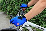 Велоперчатки утепленные c windstopper Красные, фото 6