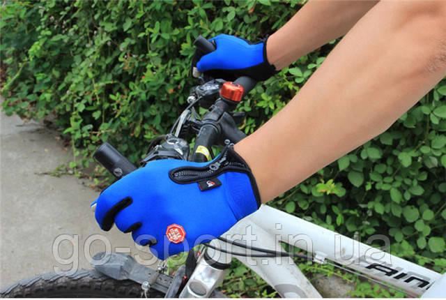 Велоперчатки утепленные c windstopper черные