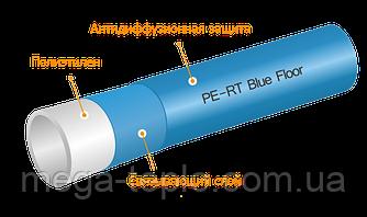 Труба для теплого пола KAN-Therm BLUE FLOOR PE-RT с андидиффузионной защитой 16x2.0