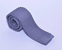 Вязанный галстук сиреневого цвета