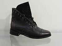 Модные молодежные кожаные ботиночки на шнуровке