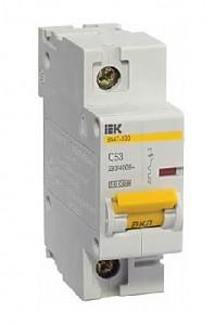 Однополюсный автоматический выключатель 32А ВА47-100 1P 32A 10кА IEK