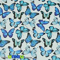 Упаковочная бумага Бабочки, Белая, 73х100 см, 1 лист (UPK-019236)
